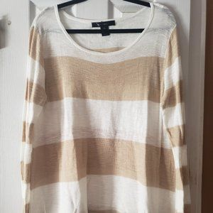 89th & MADISON  LIGHT WEIGHT LONG SLEEVE STRIPPED